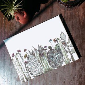 CACTI CLAN ✺ watercolor painting (6x8 canvas)